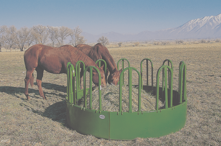 round horse bale feeder